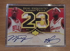 Michael Jordan UD 2007 Dual Exquisite Auto Reprint Autograph Basketball Card