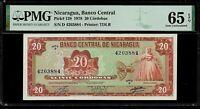 Nicaragua 20 Cordobas 1978 PMG 65 EPQ UNC  Pick # 129