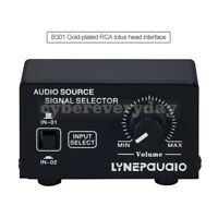 2In 1Out Audio Signal Selector Speaker Switcher Volume Adjust RCA Interface B301