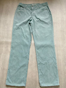 BODEN mens green  cord  jeans  size 34R