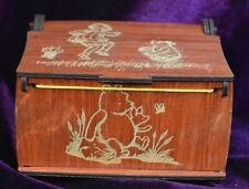 Wooden Winnie the Pooh Jewelry Box with windup Music