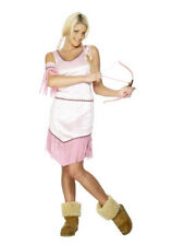 INDIAN PRINCESS, PINK INDIAN FANCY DRESS COSTUME, ONE SIZE 10-14