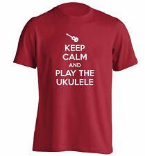 Keep calm and play ukulele t-shirt play strum music musician banjo lyrics 3978