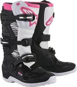 Alpinestars 2018 Tech 3 Stella Boots 9 Black/White/Pink 2013218-130-9