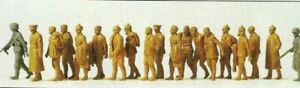 Russian P.O.W.s w/German Guards. Preiser 16577 New 1/87 Plastic Unfinished