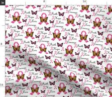 Courage Breast Cancer Awareness Faith Hope Fabric Printed by Spoonflower Bty