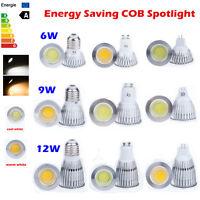 Dimmable 6W 9W 12W MR16 E27 GU10 COB LED Spot Light Downlight Lamp Bulb Bombilla