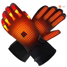 QILOVE Electric Heated Gloves,Hand Warmer with Rechargeable Batteries, Size - XL