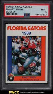 1989 Florida Gators Smokey Emmitt Smith ROOKIE RC PSA 9 MINT