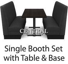 Restaurant Booths Seating and Table For Sale Set w 2 Booths 1 Table & 2Bases NEW