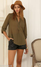 3/4 Sleeve Hand-wash Only Casual Regular Tops & Blouses for Women