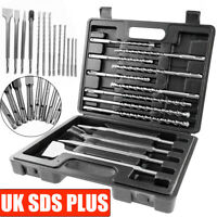 13X HEAVY DUTY LONG SDS PLUS MASONRY DRILL BIT CONCRETE ROTARY HAMMER CHISEL SET