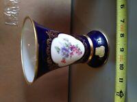 Lindner Vase, 6 inches, Echt Cobalt, 419, 7, Kueps, Bavaria