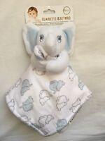 Blankets /& Beyond Security Blanket /& White Pink Elephant Girls Gift Shower L5