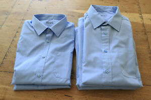 Marks & Spencer blue school shirts size 14-15 years (7 in total)