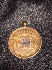 ANTIQUE GOLD DOG SHOW MEDAL SAINT HUBERT CLUB 21ST JULY 1880 HOUND TERRIER