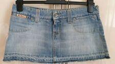 Ben Sherman fringed denim mini skirt /size 8 /extra short