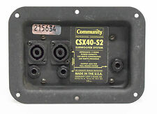 Community CSX40-S2 Subwoofer System Connection Plate - 600 Watts - Made in USA