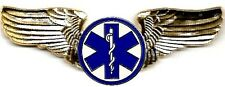 Classic Star of Life #2 (EMT) USAF Style Golden Finish Pilot/Flight Wings
