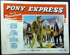 Western Pony Express LOT 5 ORIGINAL 1950s Lobby Cards Rhonda Fleming Heston