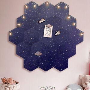 Hexagon Moon Star Felt Board Letter Message Board Photo Display DIY Wall Decor