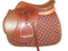 """""""THSL"""" ENGLISH CLOSE CONTACT SADDLE PACKAGE BROWN/TAN 17"""" (LCC 1020BR)"""