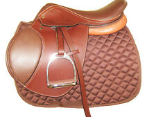 """THSL"" ENGLISH CLOSE CONTACT SADDLE PACKAGE BROWN/TAN 16"" (LCC_1020BR)"