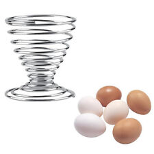 1Pcs Hot Stainless Steel Spring Wire Tray Stand Storage Boiled Egg Cups Holders