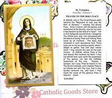 Saint St. Veronica - Prayer to The Holy Face - Gold Edging -Paperstock Holy Card