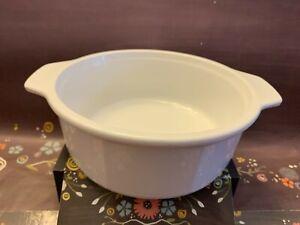 Princess House Nouveau White Cookware Casserole Dish w/Handle 1 Quart EUC France