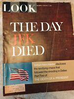 3 LOOK Magazines Feb 7, 21 & March 7, 1967 The Day JFK Died, Flight From Dallas