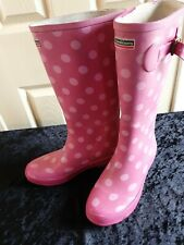 Town&Country Female Festival Wellies Wellington Boots Raspberry Size 4