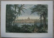 1871 print BAYON OR MONUMENT OF 42 TOWERS, ANGKOR THOM, CAMBODIA (#25)