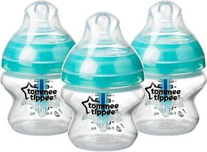 3x Tommee Tippee Advanced Anti-Colic Baby Bottles 150ml BRAND NEW