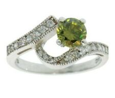 ISBN- RS-FRESH-N-01 Silver Clear Crystals And Periodot Crystal  Ring  £39.00