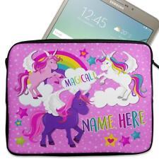 "Personalised Tablet Case UNICORN Neoprene Sleeve Cover 7"" 8"" 9"" 10"" EC011"