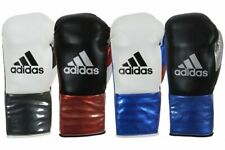 Adidas AdiStar Leather Pro Lace Up Boxing Gloves Fight Sparring BBBC Approved