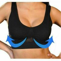 Women Solid Cotton Intimates Summer Sport Yoga Wireless Underwear Bra Plus Size