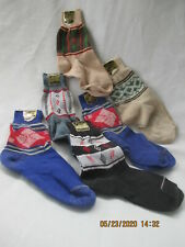 Boys Socks Nos 40's-50's 100% Cotton Stripes Plaids Lot of 7 pairs