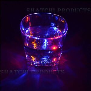 LED Flashing Glowing Light-Up Water Liquid Activated Wine Glass Cups Mugs Party