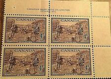 1949 CANADA STAMP 4 CENTS PURPLE HALIFAX - Lot of 4