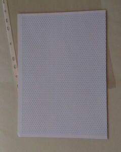 Isometric Grid Paper (New pack 20 sheets 5mm triangles - two sided)