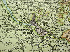 1919 LARGE MAP ~ GERMANY NORTH WEST ~ SCHLESWIG HOLSTEIN BERLIN OLDENBURG