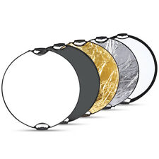 """Portable Multi Disc 32"""" Photography Reflector 5-in-1 Circular Collapsible EM#01"""