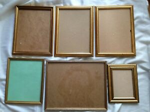 Job Lot of 6 Mixed Gilt Picture Frames