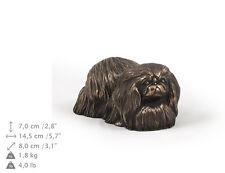 Pekinese, Holz Statuette, Bronze, ArtDog, DE