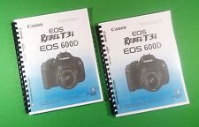 LASER PRINTED Canon EOS 600D Rebel T3i Camera 324 Page Owners Manual Guide