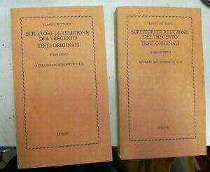 Scrittori di religione del trecento testi originali tomo IeII Einaudi 1977