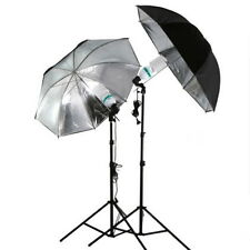 83cm Studio Flash Light Grained Black Silver Umbrella Reflective Reflector GT