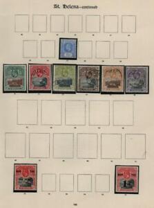 ST.HELENA: Edward VII-George V - Ex-Old Time Collection - Album Page (40593)